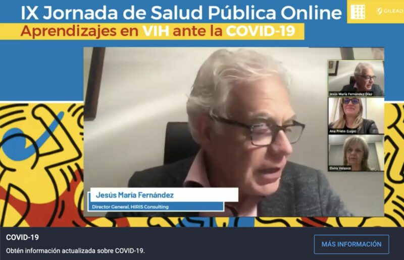 Jesús Mª Fernández, Ana Prieto y Elvira Velasco en IX Jornada de Salud Pública Online: Aprendizajes ante la COVID-19