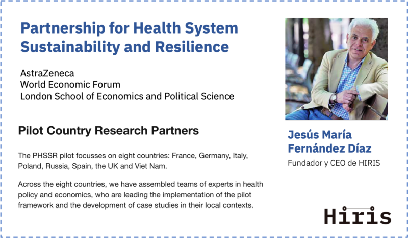 Fernández Díaz e Hiris, parte del Partnership for Health System Sustainability and Resilience – LSE, WEF y AstraZeneca